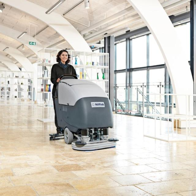 Nilfisk BA751 scrubber dryer cleaning shop