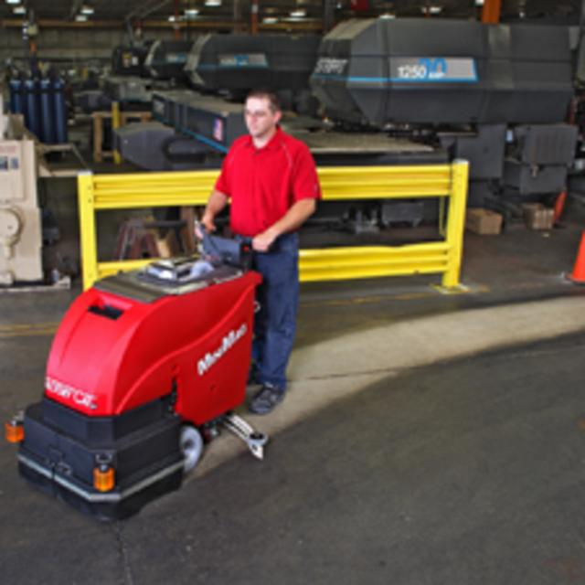Minimag Walk Behind Scrubber Sweeper